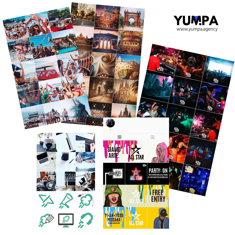 Gestione Creativa Social Media YUMPA